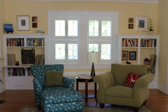 Denton 1930's house traditional-living-room