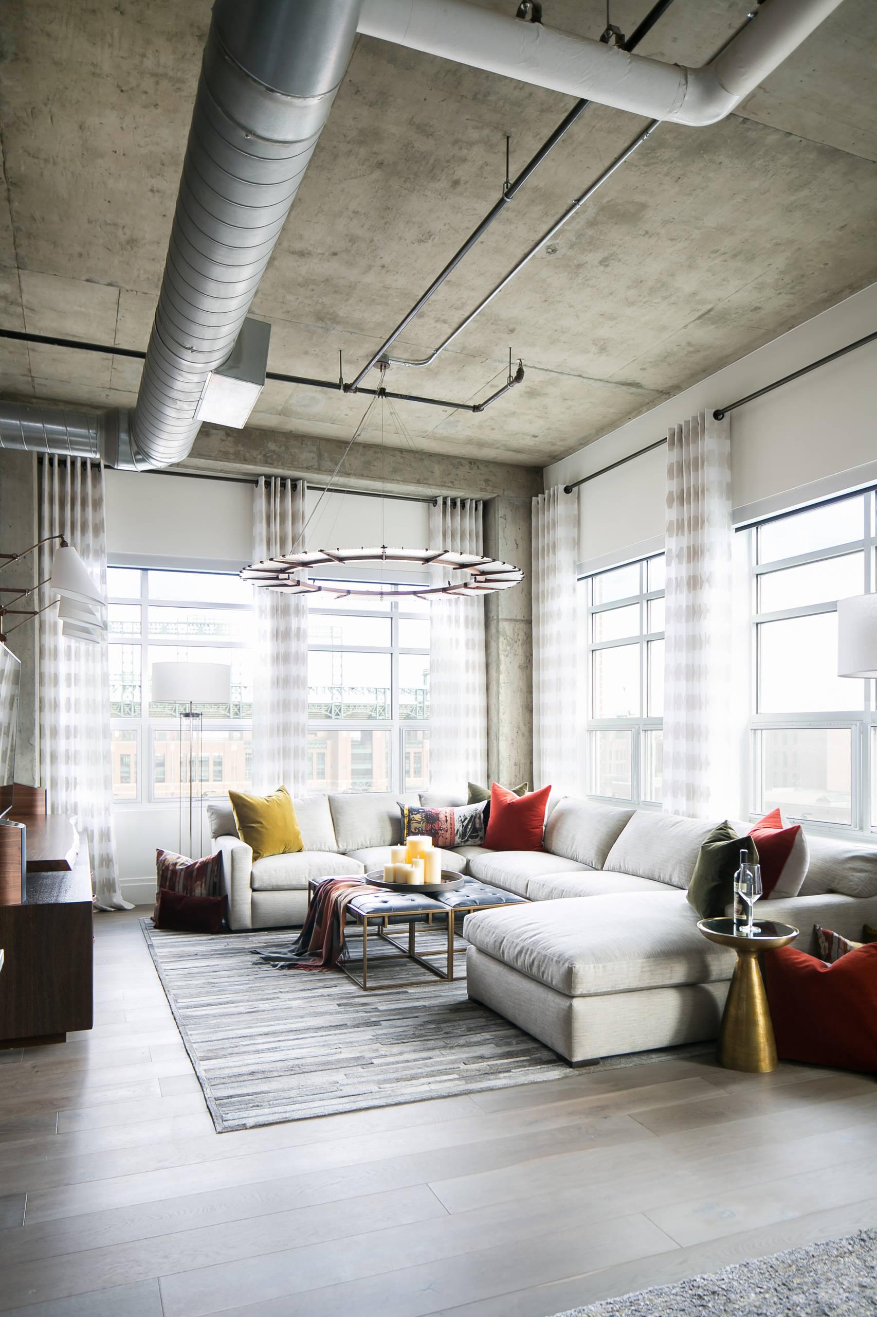 Denver Colorado Residence Loft Style LIVING ROOM