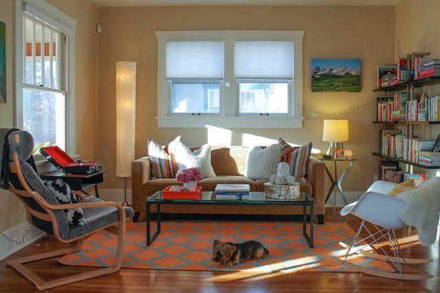 Denver Highlands Bungalow Eclectic Living Room
