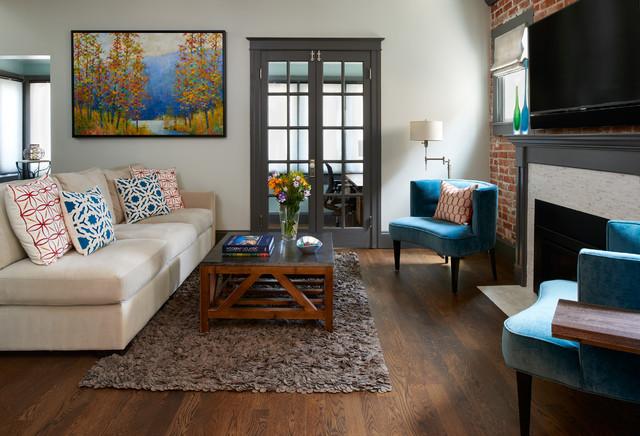 Denver Wash Park 48's Bungalow Pop Top Traditional Living Room Magnificent Living Room Denver