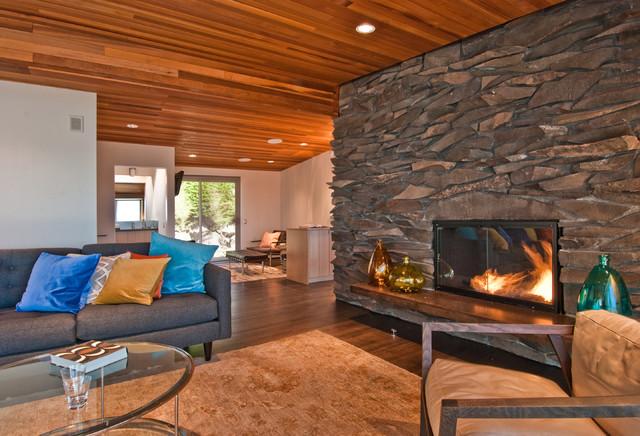 Des Moines Mcm Remodel Midcentury Living Room