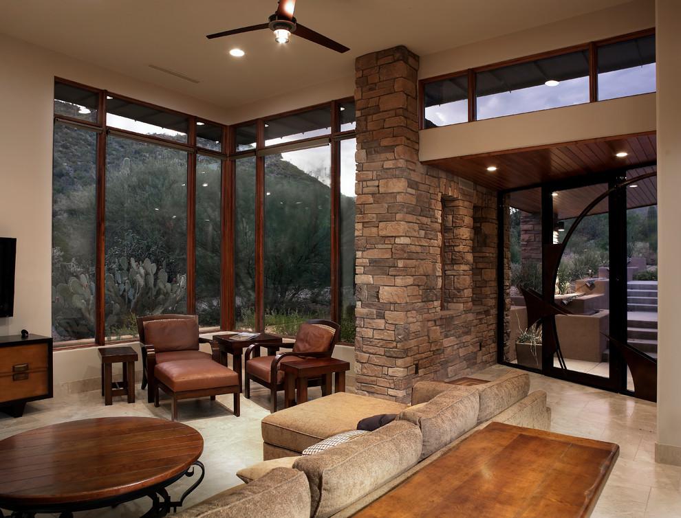 Desert Contemporary 495 - Southwestern - Living Room ...