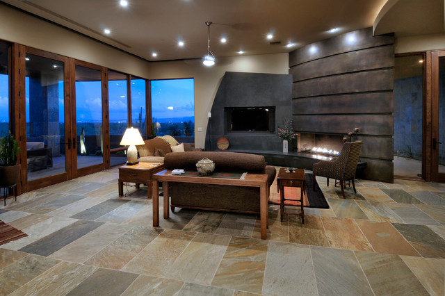 Desert Contemporary 711 southwestern-living-room