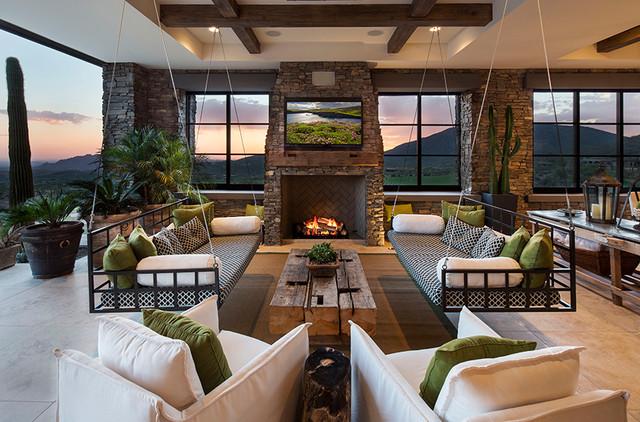 Breathtaking Indoor Swings Living Rooms