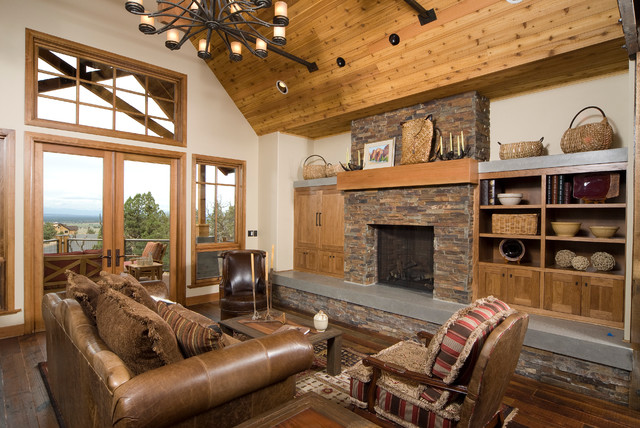 Desert Ranch Traditional Living Room Portland By