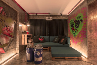 Industrial Living Room Design Ideas Renovations Photos January 2021 Houzz Sg