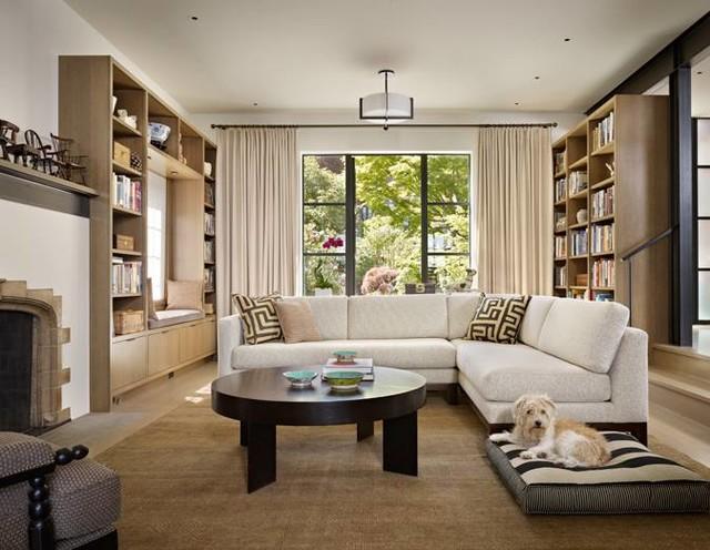 Design by NB Design transitional-living-room