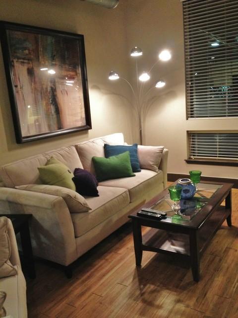 Design on a dime contemporary cozy apartment living for Apartment design on a dime