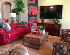 Designed by Gallery Furniture- Austin Home traditional-living-room