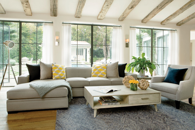 Living Room Mid Sized Contemporary Enclosed Medium Tone Wood Floor Idea In