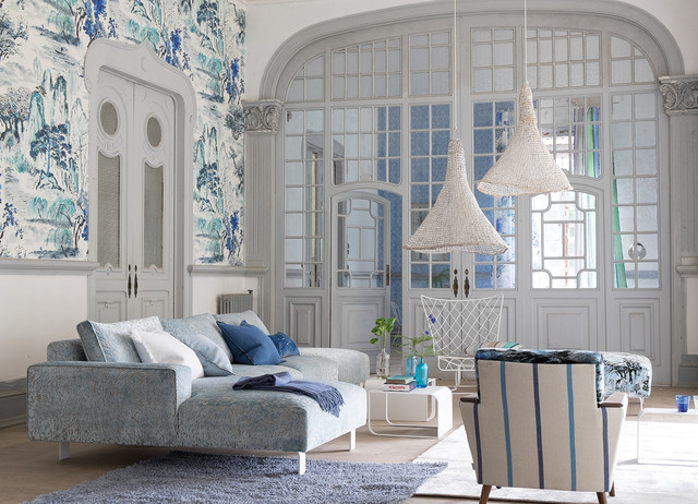 Designers Guild Fabric Shabby Chic Style Living Room Melbourne By Radford