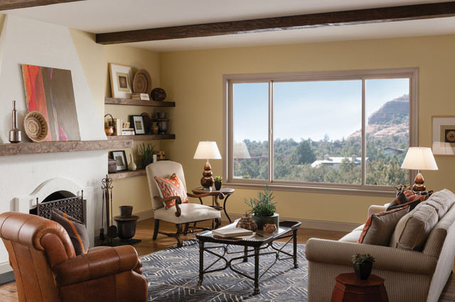Designing Living Spaces with Windows. - Mediterranean - Living ...