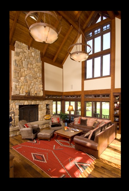 Devine Ranch and Residence rustic-living-room