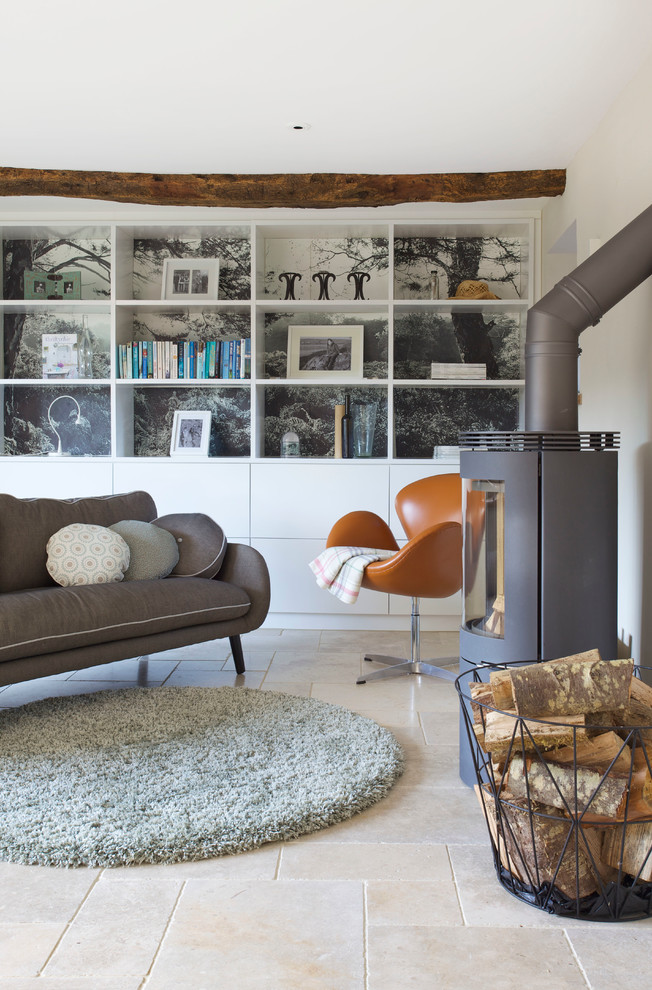 Inspiration for a contemporary living room remodel in Devon
