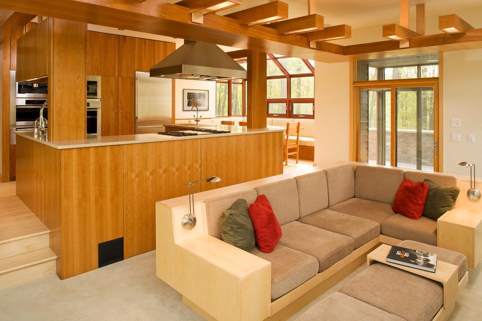 Living room - contemporary open concept living room idea in Minneapolis