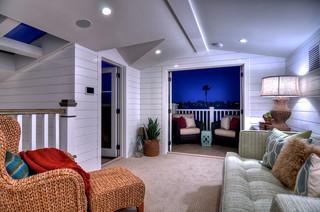 Diamond Beach Cottage Eclectic Living Room Orange