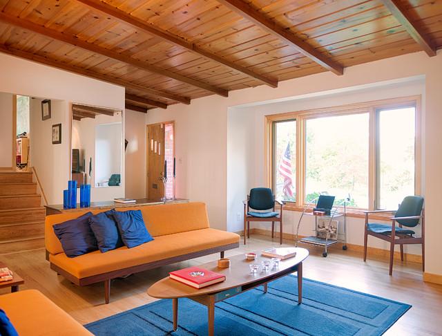 amazing split level living room | DIAZ - Residence 1954 Split Level Addition and Renovation ...