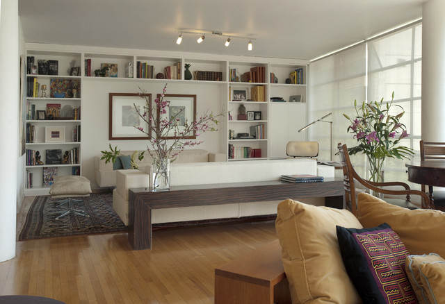 Dickens modern living room mexico city by Modern shelves for living room