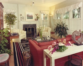 Dilworth bungalow eclectic living room charlotte for Joop living room 007