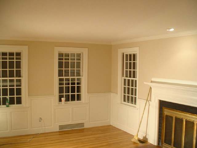 Dining Room Wainscoting Craftsman Living Room New York By