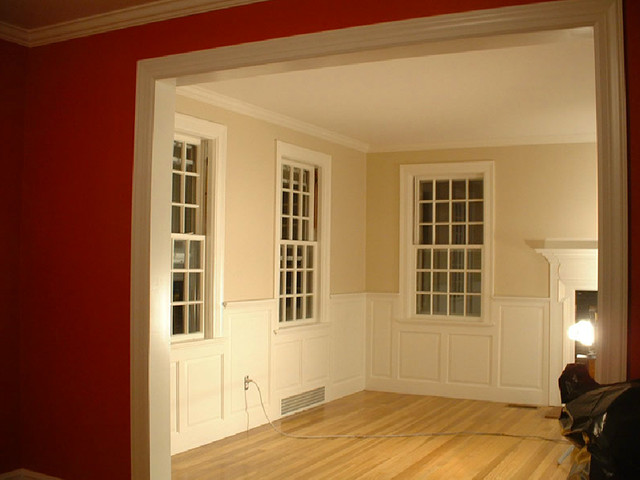 Dining Room Wainscoting - Craftsman - Living Room - new york - by ...