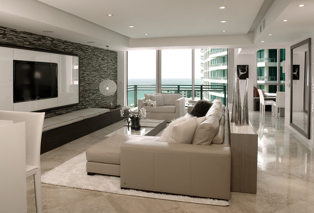 Diplomat residence modern living room miami by for The family room troy ny