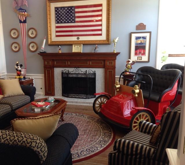Disney Inspired Traditional Living Room Orange County