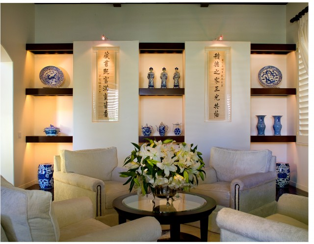 Displaying Art Collections Contemporary Living Room