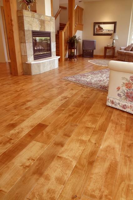 Distressed alder traditional living room other metro for Hardwood floor dealers