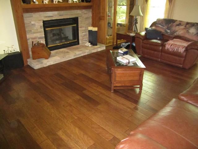 distressed engineered hardwood floors traditional living room