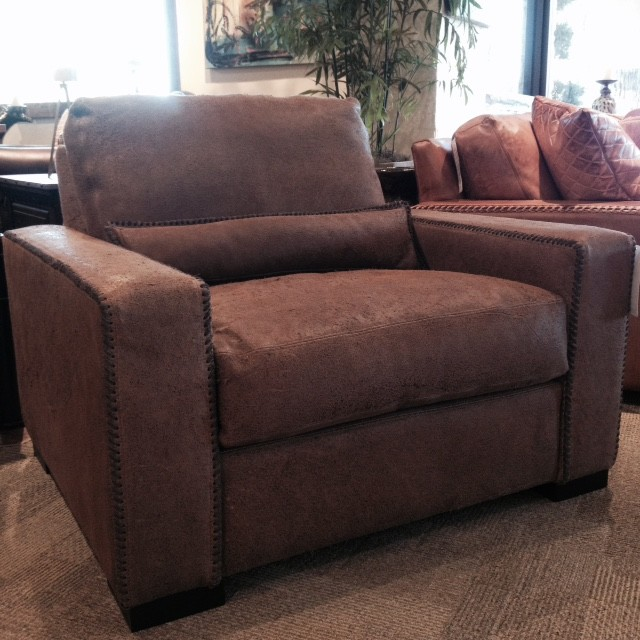 Distressed Leather Accent Chair (Austin Tx & Houston Tx ...