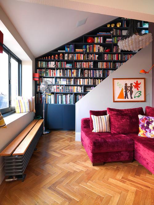 【Houzz】ソファで考える、大人っぽくハイセンスなピンクの使い方 3番目の画像