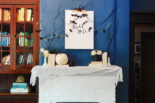 DIY: Halloween and Fall Mantel Inspiration