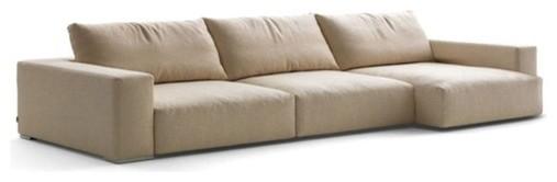 Docko Contemporary Fabric Sectional Sofa Contemporary Living Room