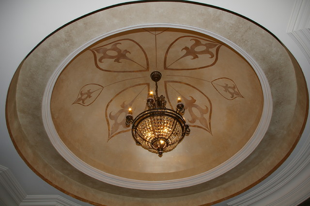 Dome Ceiling Traditional Living Room Charlotte By