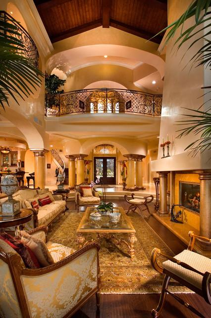 Doni Flanigan Interior Design Artist mediterranean-living-room