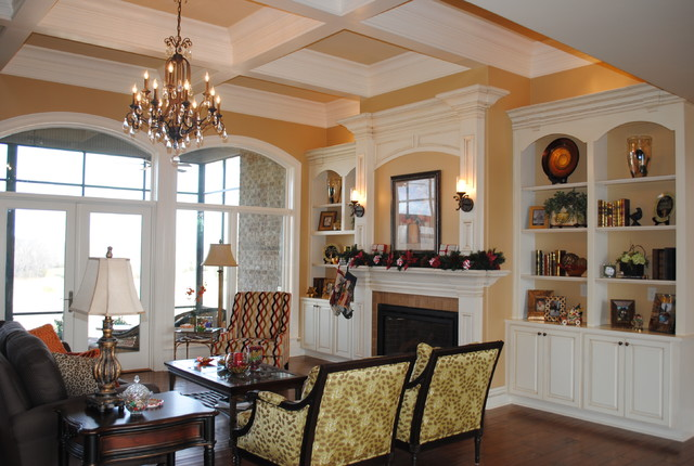 Double Mantel traditional-living-room