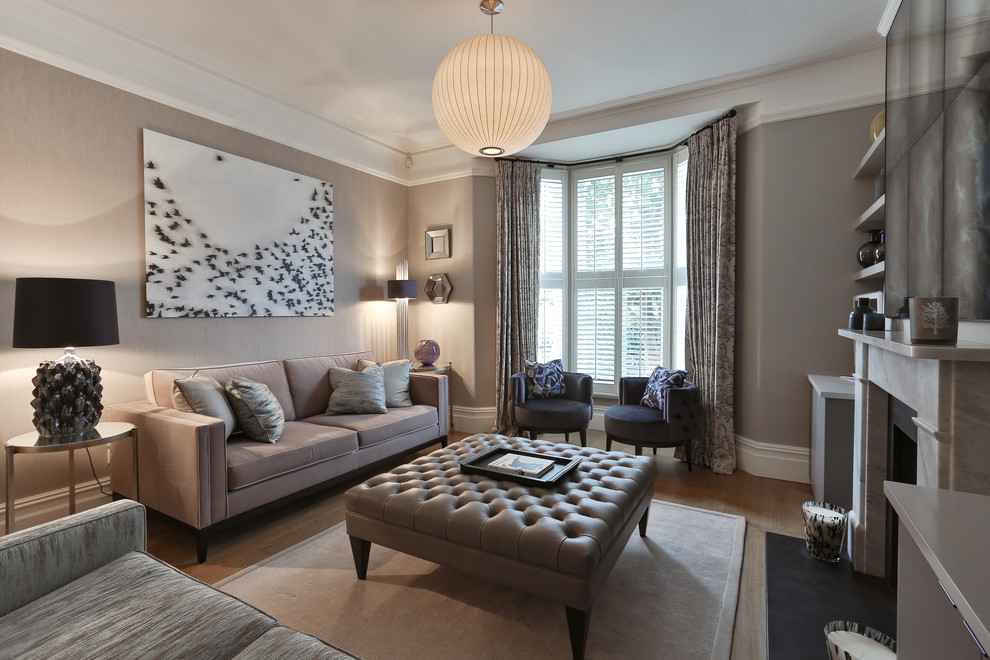 Double Reception Room - Modern - Living Room - London - by ...