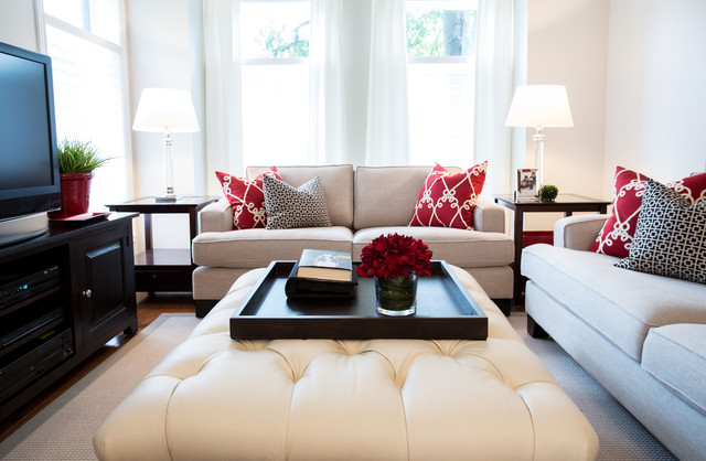 Downsizing and loving it! contemporary-living-room