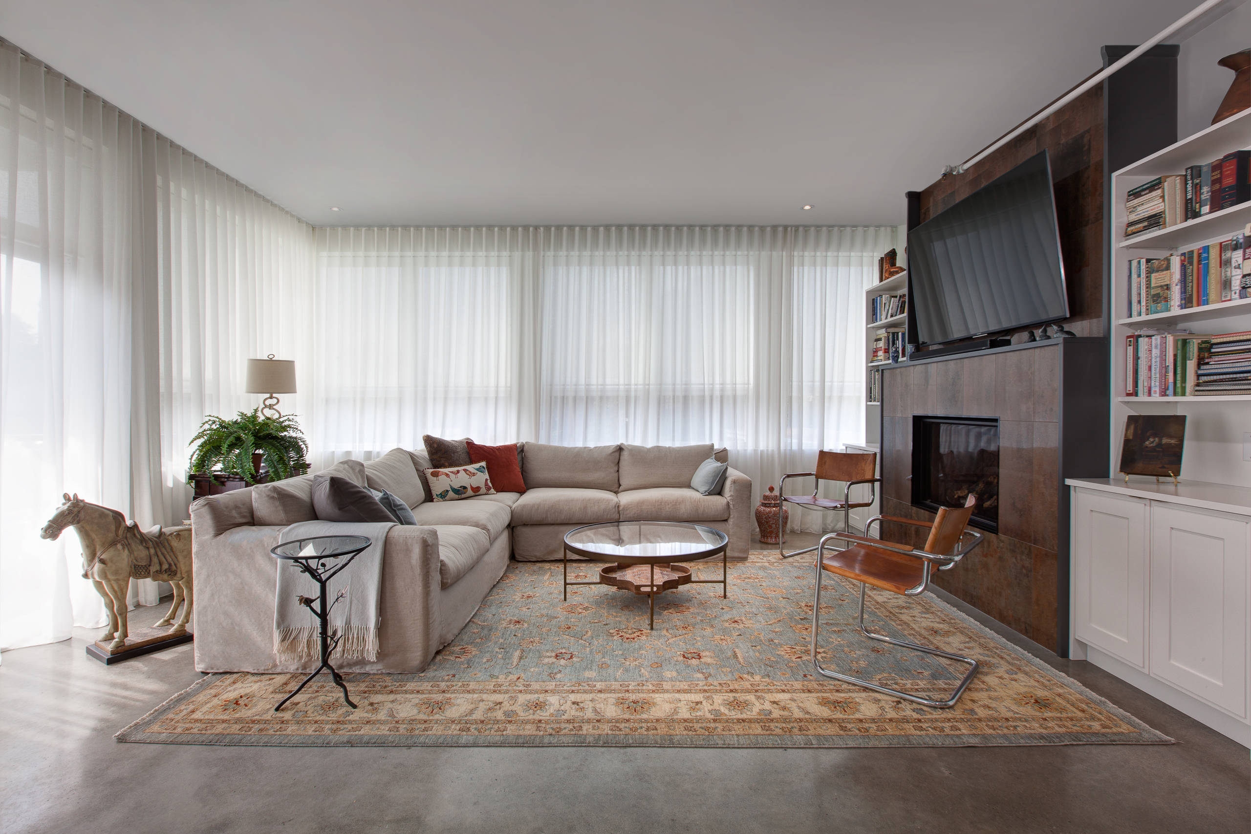 Downsizing to a loft - living room