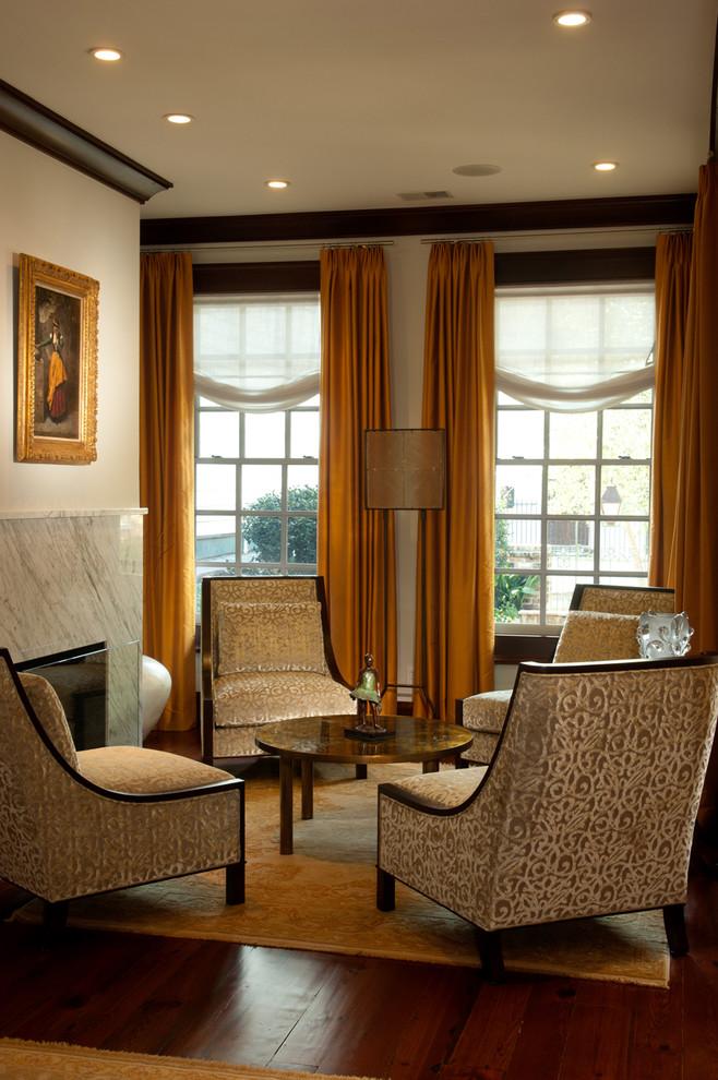 Elegant living room photo in Charleston
