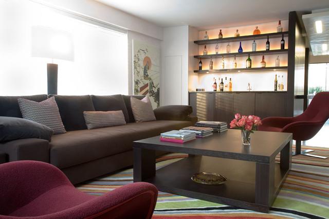 Downtown Duplex Contemporary Living Room New York