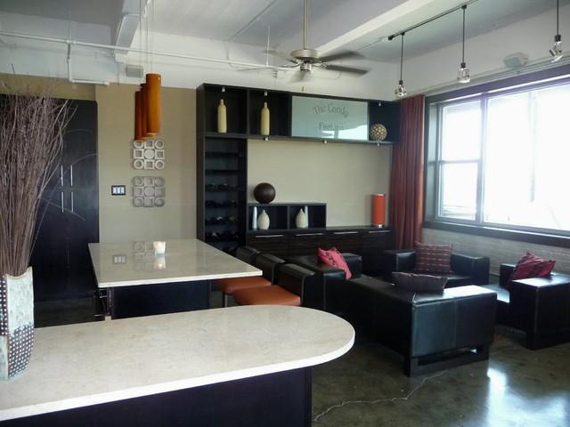 Downtown Loft Design & Decor - New Construction contemporary-living-room