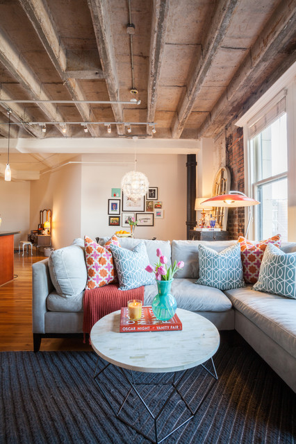 Downtown Loft contemporary-living-room