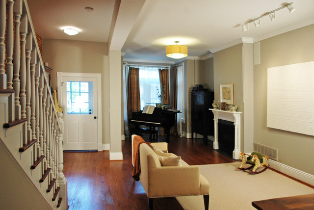downtown row house traditional living room other