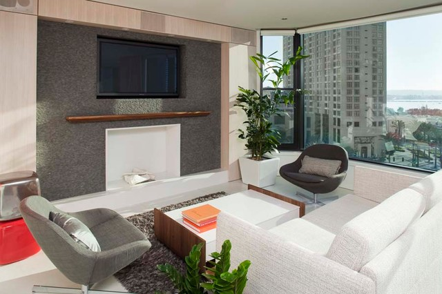 Downtown contemporary-living-room