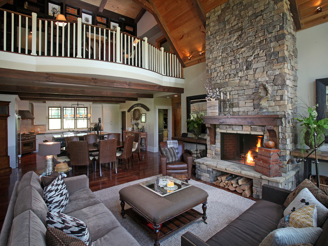 Dragonfly lodge contemporary living room atlanta Modern rustic living room