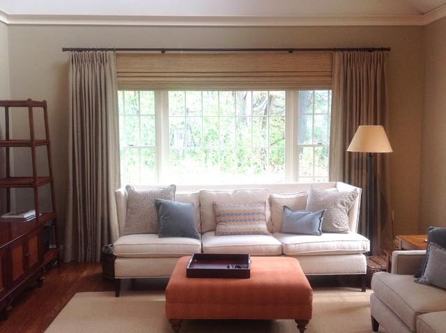 Draperies traditional-living-room