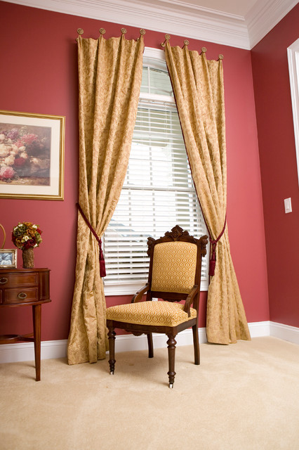 Drapery Panels transitional-living-room