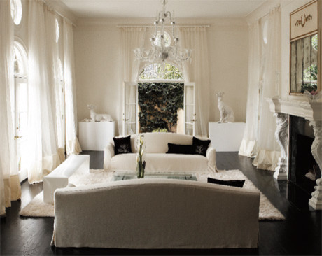 Drapery eclectic-living-room